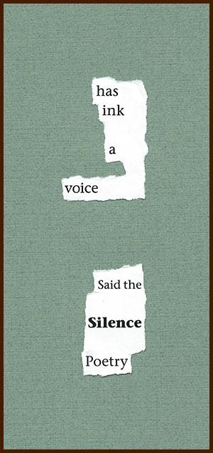 found poem © j.i. kleinberg ~ has ink