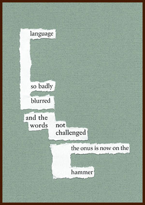 found poem © j.i. kleinberg ~ language
