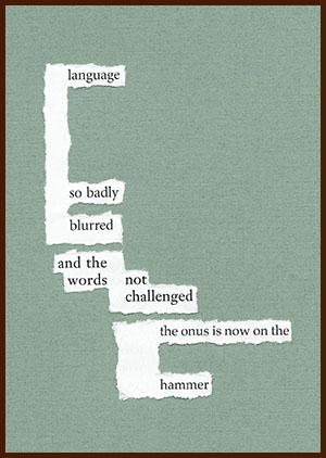found poem © j.i. kleinberg ~ language