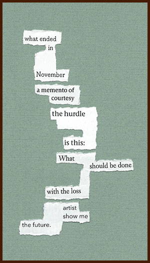 found poem © j.i. kleinberg ~ what ended