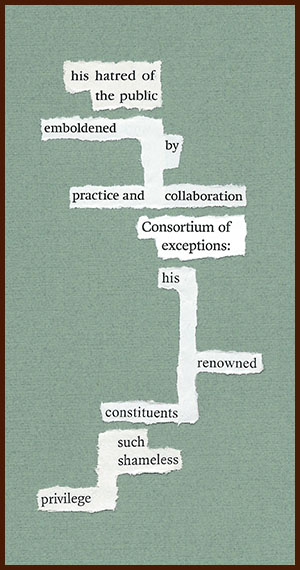 found poem © j.i. kleinberg ~ his hatred