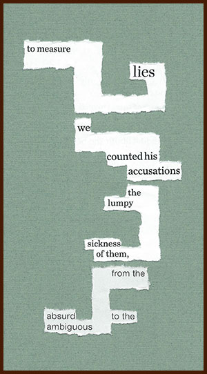found poem © j.i. kleinberg ~ to measure