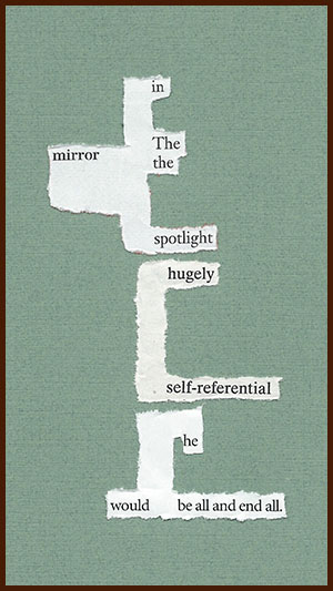 found poem © j.i. kleinberg ~ in The mirror
