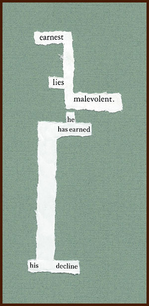 found poem © j.i. kleinberg ~ earnest