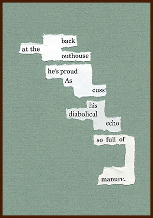 found poem © j.i. kleinberg ~ back