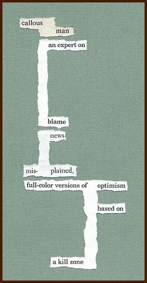 found poem © j.i. kleinberg ~ callous