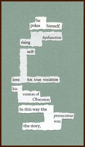 found poem © j.i. kleinberg ~ he pokes