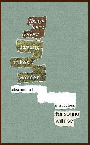 found poem © j.i. kleinberg ~ Though