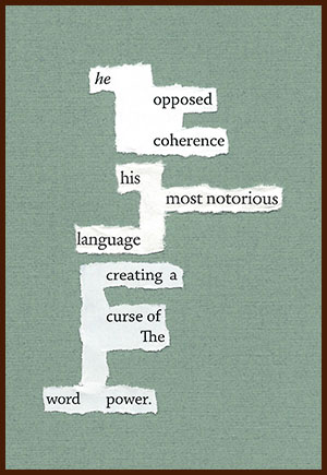 found poem © j.i. kleinberg ~ he opposed