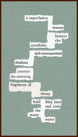 found poem © j.i. kleinberg ~ a superlative