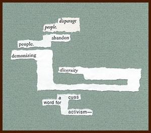 found poem © j.i. kleinberg ~ disparage