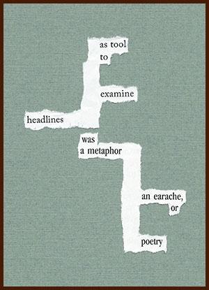 found poem © j.i. kleinberg ~ as tool