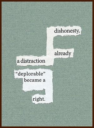 found poem © j.i. kleinberg ~ dishonesty