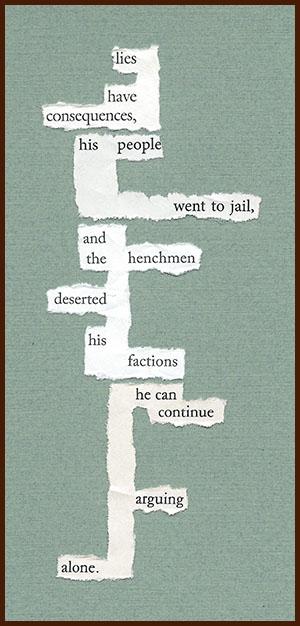 found poem © j.i. kleinberg ~ lies
