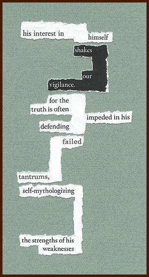 found poem © j.i. kleinberg ~ his interest