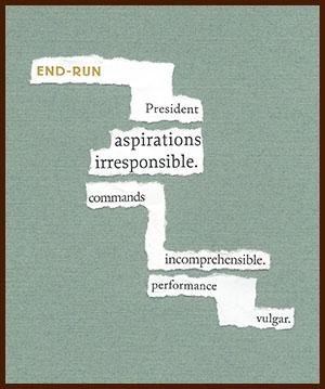 found poem © j.i. kleinberg ~ end-run