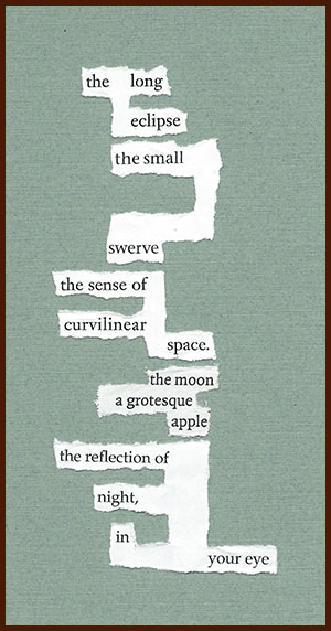 found poem © j.i. kleinberg ~ the long eclipse