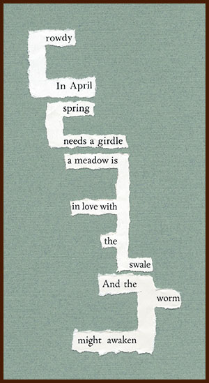 found poem © j.i. kleinberg ~ rowdy