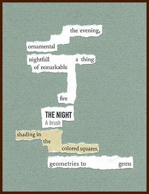 found poem © j.i. kleinberg ~ the evening