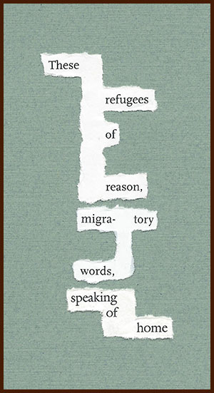 found poem © j.i. kleinberg ~ These refugees