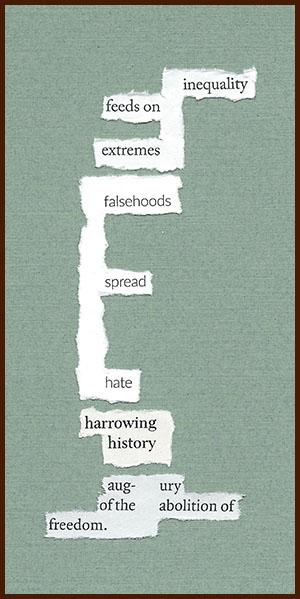 found poem © j.i. kleinberg ~ inequality